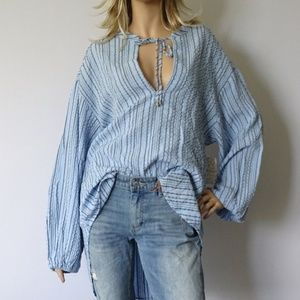 Free People Rhythm Of The Night Tunic Top Large